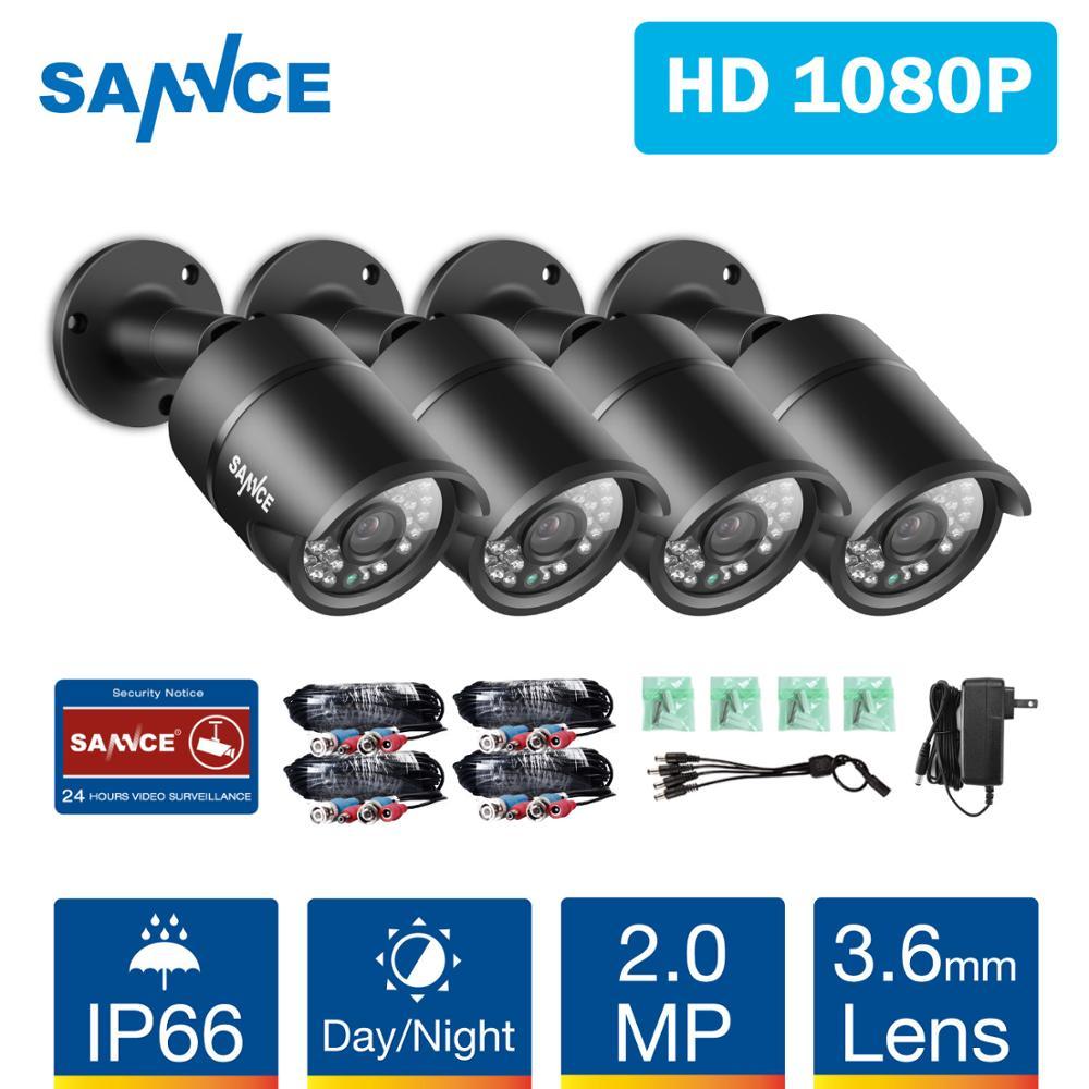 SANNCE 2MP 1080P HD Security Surveillance System Camera IR Cut Night Vision Audio Recording Waterproof Metal