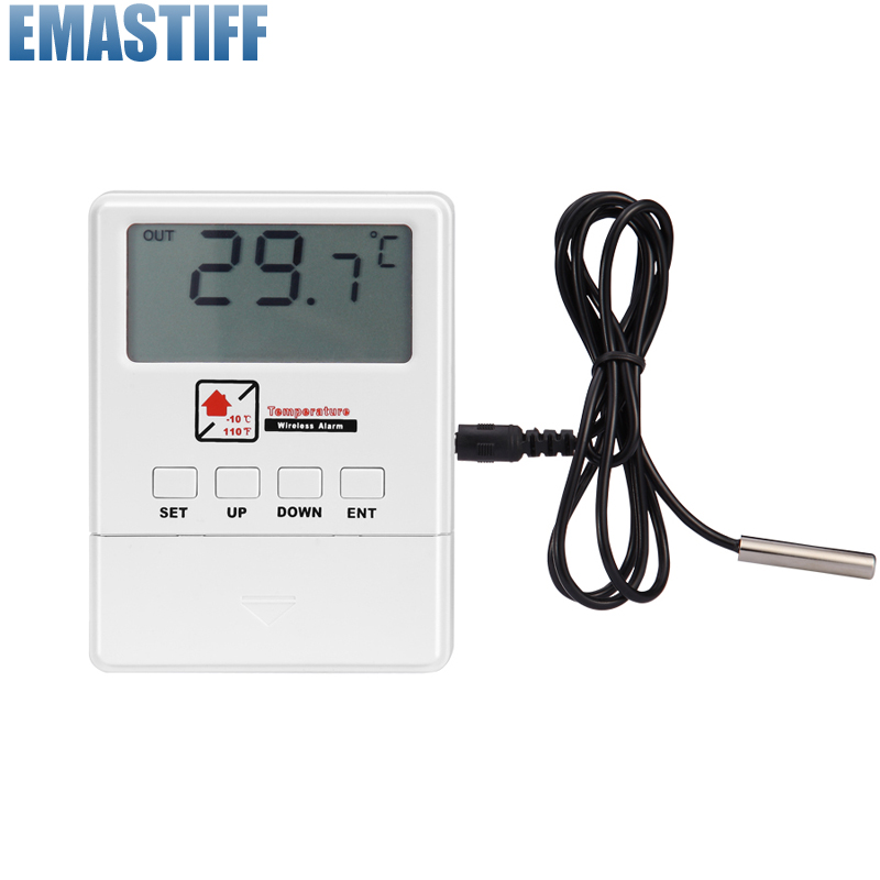 Free Shipping 433MHz Wireless <font><b>Temperature</b></font> Detector With LCD Display 1527 Chips sensor For Our Home GSM Burglar Alarm System