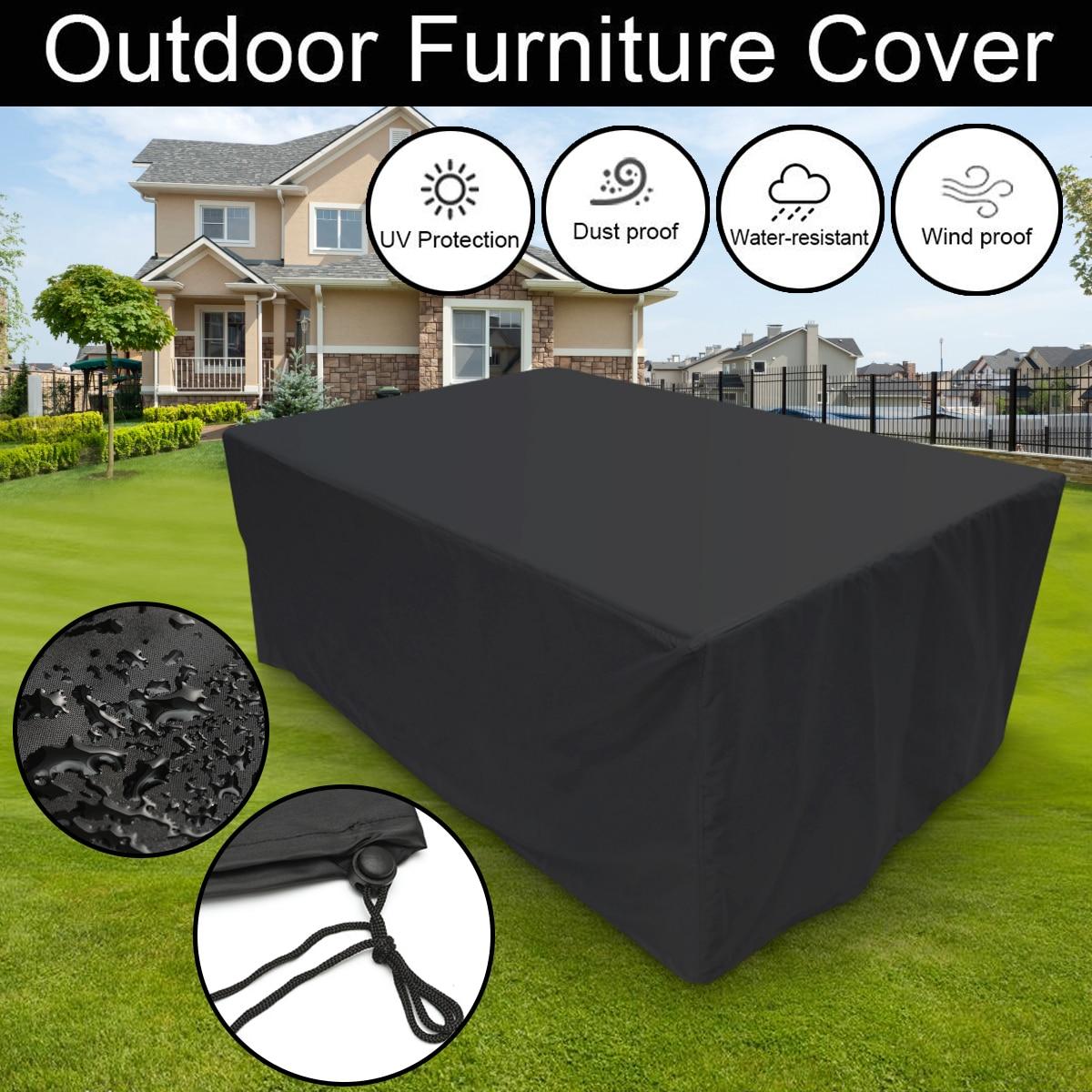4 Size Outdoor Garden Furniture Rain Cover Waterproof ...