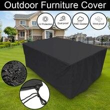 4 Size Outdoor Garden Furniture Rain Cover Waterproof Oxford Wicker Sofa Protection Set Garden Patio Rain Snow Dustproof Covers
