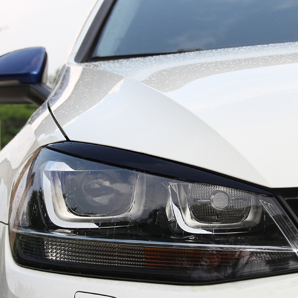 Image 3 - Headlights Eyebrow Eyelids Trim Stickers Cover for Volkswagen VW Golf 7 MK7 GTI R Rline Accessories Car Styling-in Car Stickers from Automobiles & Motorcycles