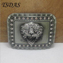 Cowboys Belt Buckles Metal With Diamond Lion Head Luxury Mens Belt Buckles Easy to use Removable Belt Buckle Birthday Gifts