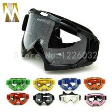 Adult Motocross Goggles Motorcycle googles ATV Eyewear Colored Lens Black Frame helmet googles off road