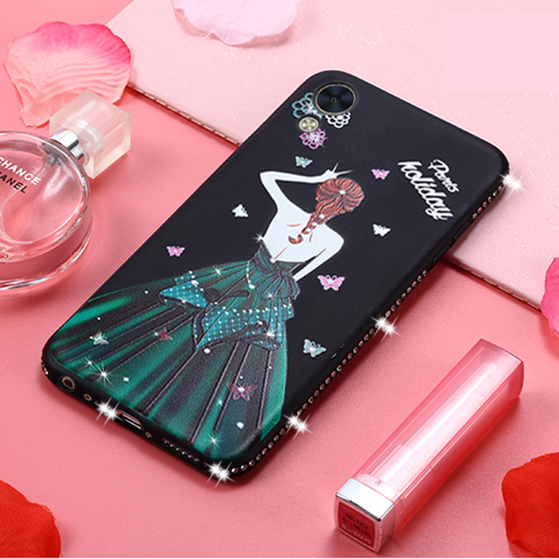 Bling Diamond Phone Case For Oppo F1 F3 Plus F1s Case Thin Soft TPU Cover Glitter Beautiful Dress Case Luxury Case Cover