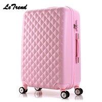 LeTrend Korean Fashion Rolling Luggage Spinner Trolley Women Suitcase Wheel Travel Bag 20 Inch Men Password