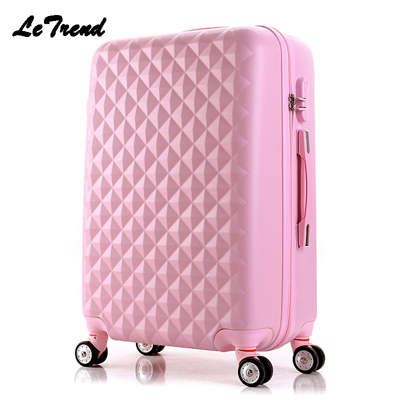 LeTrend Korean Fashion Rolling Luggage Spinner Trolley Women Suitcase Wheel Travel bag 20 inch Men Password Carry On Hard Trunk universal uheels trolley travel suitcase double shoulder backpack bag with rolling multilayer school bag commercial luggage