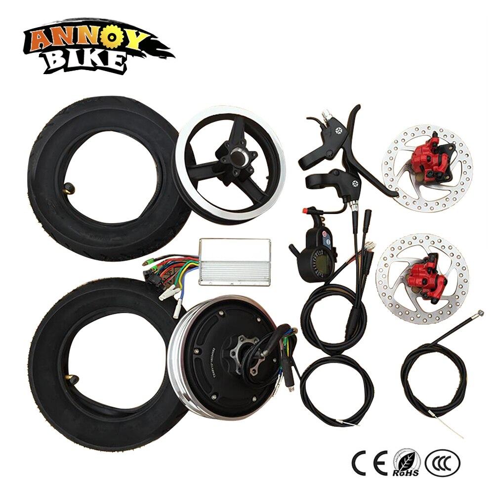 Kit de conversion de vélo électrique 10 pouces roue de moteur de moyeu électrique 36 V 48 V accessoires de moteur de roue de Scooter moteur sans brosse haute vitesse