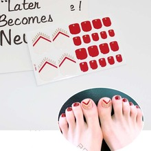 купить Toe Nail Stickers Waterproof Fashion Toe Nail Wraps Nail Art Full Cover Adhesive Foil Stickers Manicure Decals D10 дешево