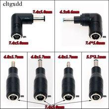 Cltgxdd 7.4*5.0mm ultra magro dc jack para 7.4x5.0 4.5*0.6 4.8x1.7 5.5*2.1mm plugue 90 graus direito angular adaptador para hp dell portátil