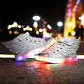 2017 Luminous Sneakers Kid Glowing Sneakers Children Designer Youth Athletic Boys Training Sports Shoes Running Tenis De Led