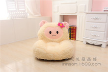 lovely yellow sheep children's sofa tatami toy plush soft yellow sheep floor seat cushion doll gift about 52x50cm