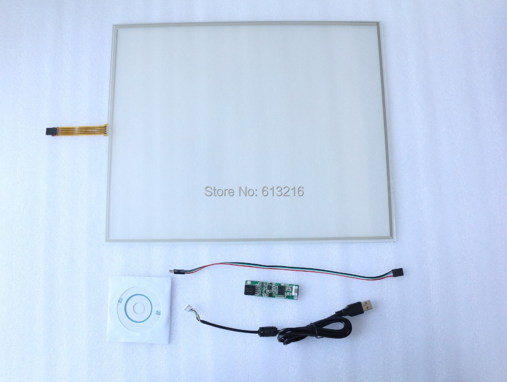 19 inch 4 wire 4:3 resistive touch panel touch screen + USB controller card +CD Room work with LTM190BT03 zhiyusun 4 3 inch 103mm 63mm 4 wire touch screen for gps glass 4043058 4 3 touch panel 103 63