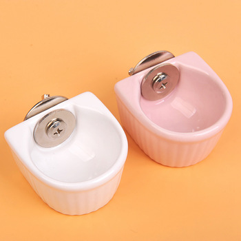 Creative Ceramic Hanging Pet Food Bowl Non-Slip Anti-Turn Hamster Bowl Pet Feeder Bowl For Chinchill Gerbil Pet Feeding Supplies 1