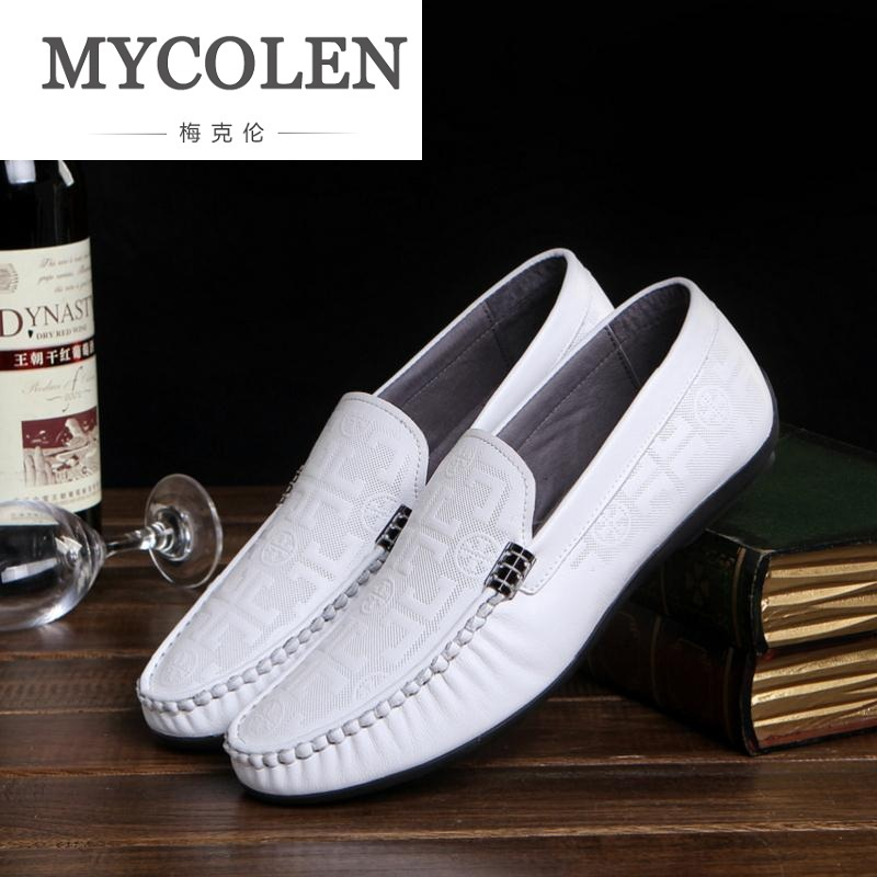MYCOLEN Men Casual Shoes For Adult Mens Shoes Breathable Male Driving Shoes Vintage Style Solid Men Loafers Chaussures Hommes branded men s penny loafes casual men s full grain leather emboss crocodile boat shoes slip on breathable moccasin driving shoes