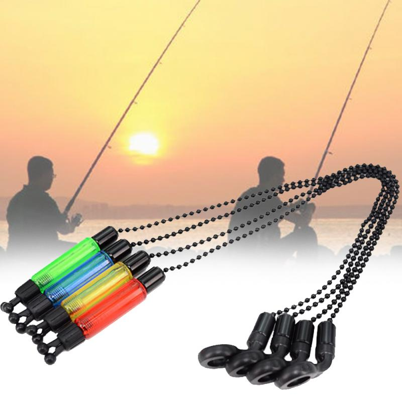 3pcs Rod Fishing Alarms Bite Indicator Illuminated Outdoor Bobbins Hangers Tackle Accessories Swinger Carp Alerter Practical