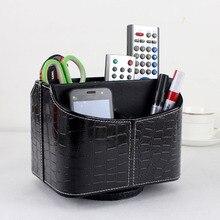 Ashion дома вращающегося рабочего стола кожаный ящик для хранения случае организатор косметика метизы 257 H