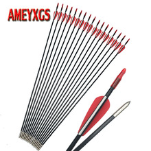 9/12pcs Archery Fiberglass Arrow 31.5inch Composite Shaft With Rubber Feather For Hunting Shooting Accessories