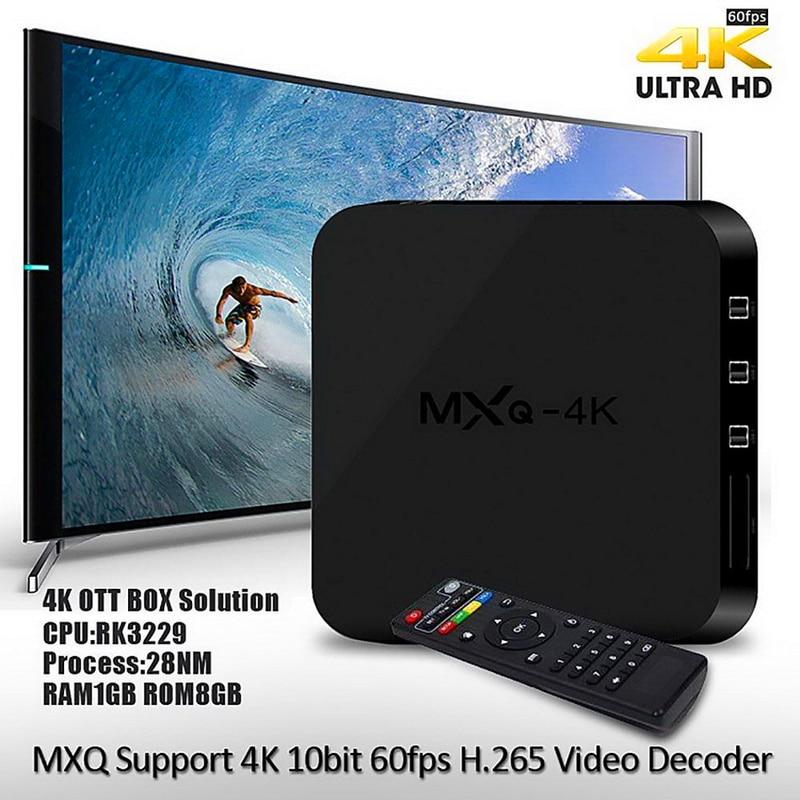MXQ 4k RK3229 Quad core Samrt TV Box Android 6 0 DDR3 1GB 8GB HD 1080P