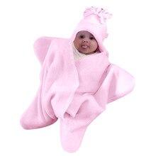 Для новорожденных милый, для новорожденных и малышей, хлопковые однотонные спальное одеяло для мальчиков и девочек, Обёрточная бумага для пеленания; прелестная однотонная Одеяло Детское покрывало для сна Одеяло