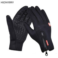 2019 Outdoor Sports Hiking Winter Bicycle Bike Cycling Gloves For Men Women Windstopper Simulated Leather Soft Warm Gloves
