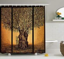 CHARM HOME Life Shower Curtain Triptych An Old Mature Style