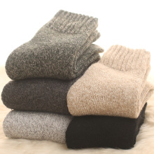 1 пара, мериносовая шерсть, осень и зима, плюшевые теплые мужские носки, толстый хлопок, шерсть, петля, платье, носки, мужские полотенца, плюш, Slacky, зима