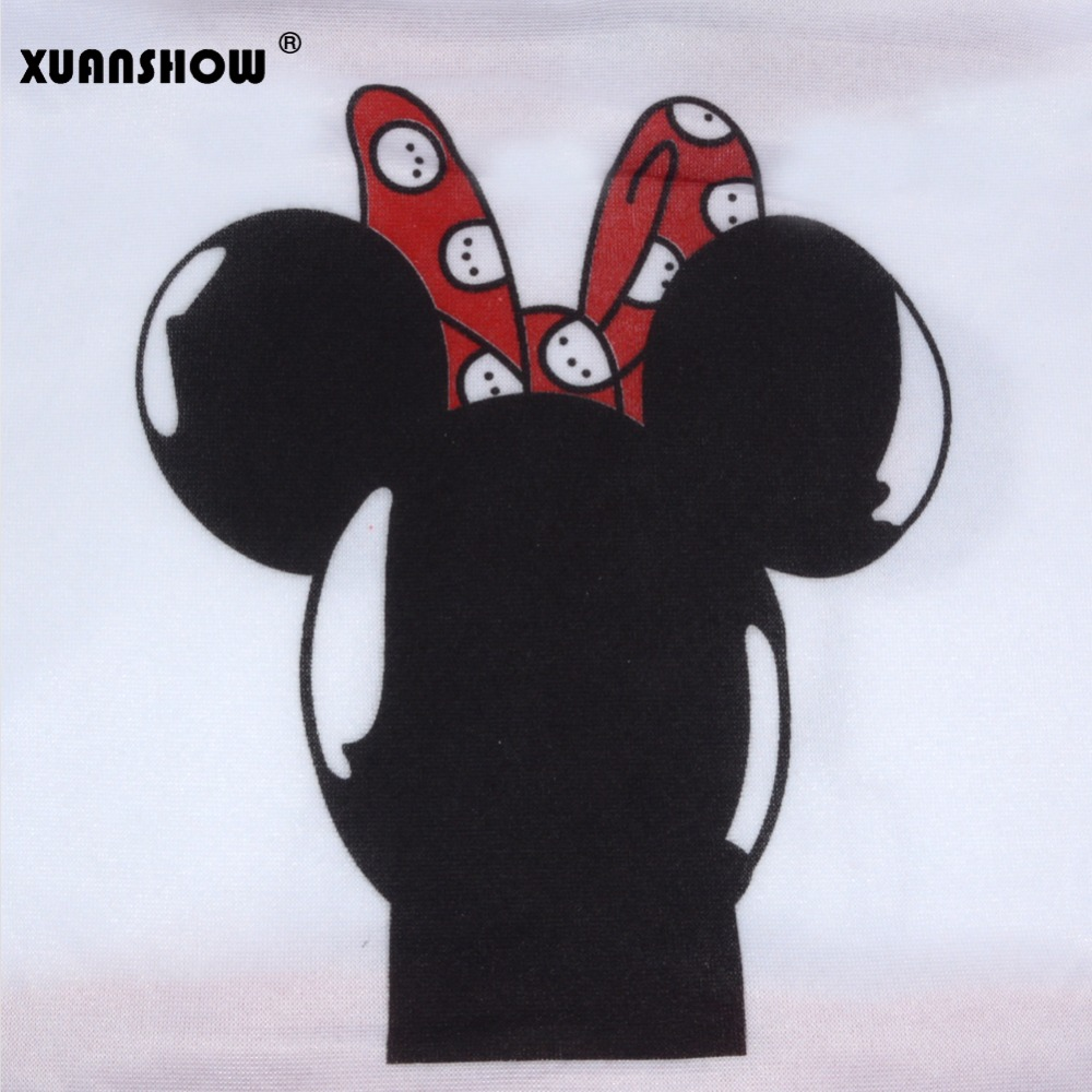 XUANSHOW Women Set Casual Sportswear Cute Ear Cartoon Mouse Printed With Hooded long-sleeved Suit Tenue Tracksuit  Femme HTB1GMxPX1EJL1JjSZFGq6y6OXXam