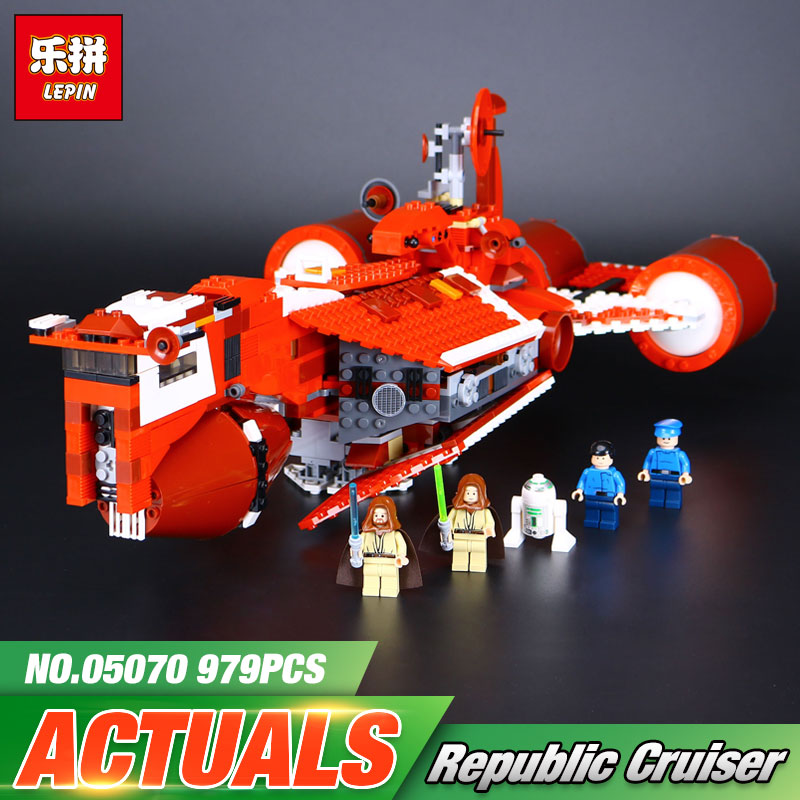 Lepin 05070 Star Republic Toy Cruiser Set Children Educational Building Blocks Bricks Wars Toys Model Compatible With lego 7665 цена
