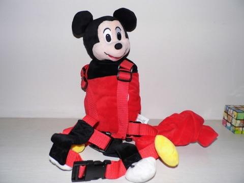 Приятель для того, чтобы держать 2-в-1 Детские накладной Рюкзак Детские поводья для От 1 до 3 лет вокруг - Цвет: New Mickey Mouse