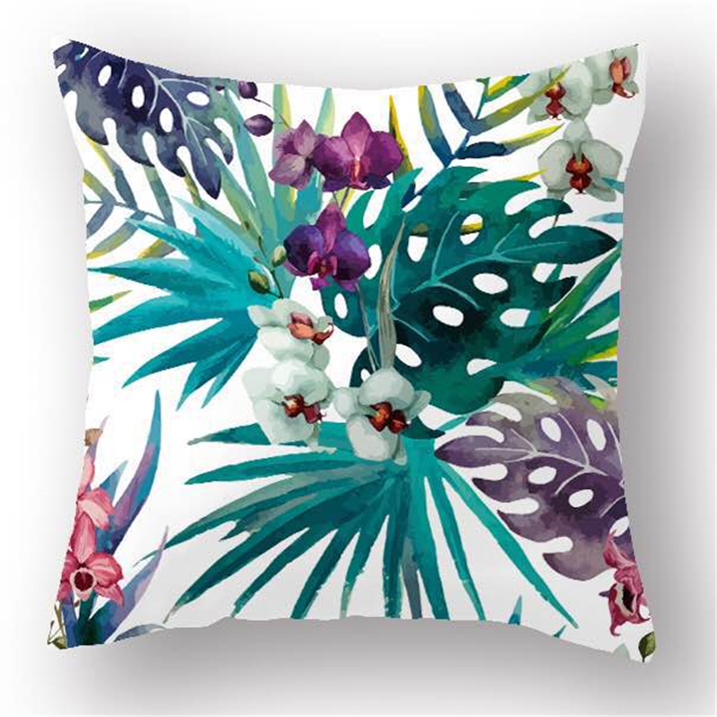 New Fashion Hawaiian Garden Tropical banana Leaves Palm Leaf Decorative Throw Pillowcases pillow Cushion Covers Sofa Home Decor