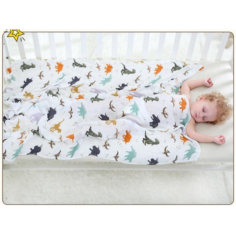 70% Bamboo Fiber 30% Cotton Muslin Blankets Baby Blanket Bedding Swaddle For Newborn Swaddling Blanket Bath Towel