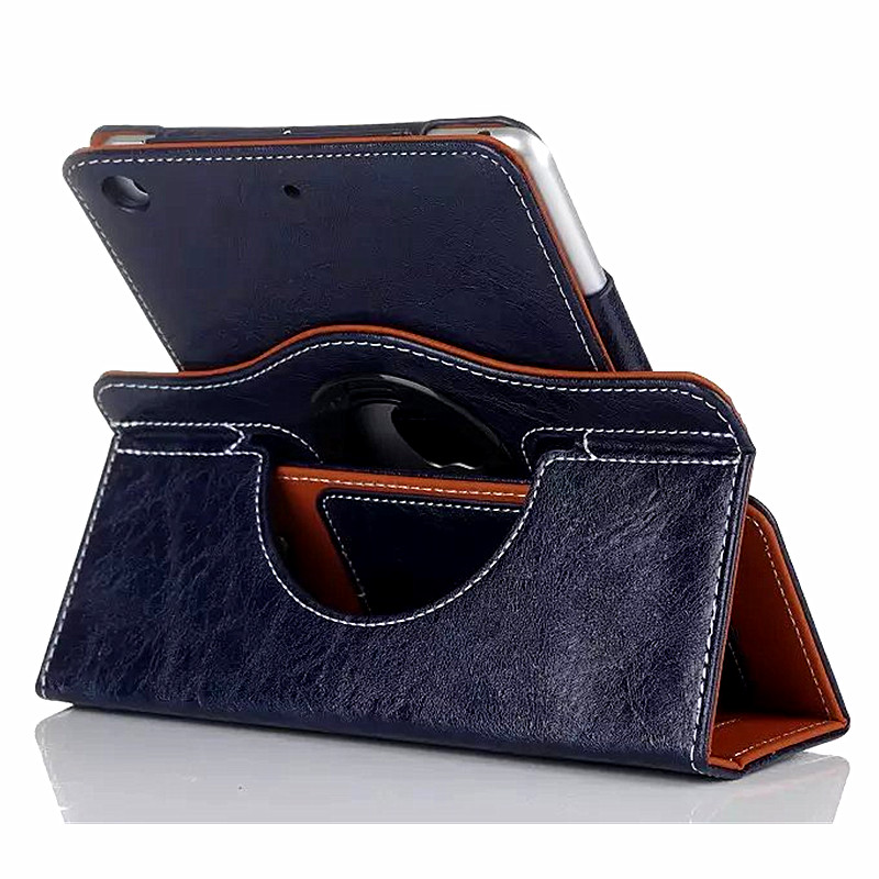 360 Rotating Leather Case for iPad Air Tablet Smart Cover Stand Case for iPad Air iPad 5 with Wallet Card Slot Hand Strap Holder