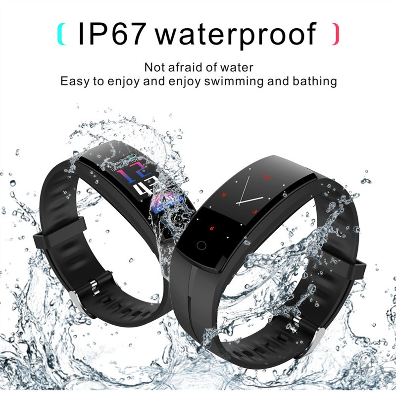 Sports QS100 smart bracelet activity tracker smart watch blood pressure heart rate monitor fitness smart bracelet IOS Android