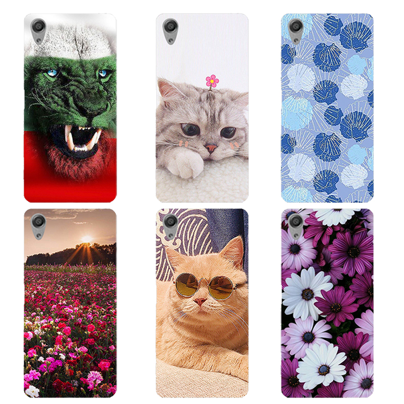 For Coque Sony C6 Case Cover Flower cat Phone Cases For SONY Xperia XA Ultra 6
