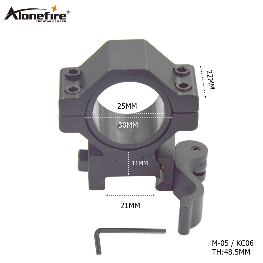 AloneFire M-05 Hunting Accessories 21mm Rail Tactical Mount  Gun Picatinny 25/30mm Ring Tactical Quick Release Mounts