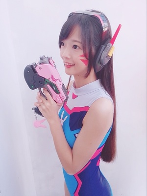 Novelty & Special Use D.va Gun And Headset For Cosplay Pvc Pink D Va Gun Dva Headset Dva Earphone For Exhibition Costumes & Accessories