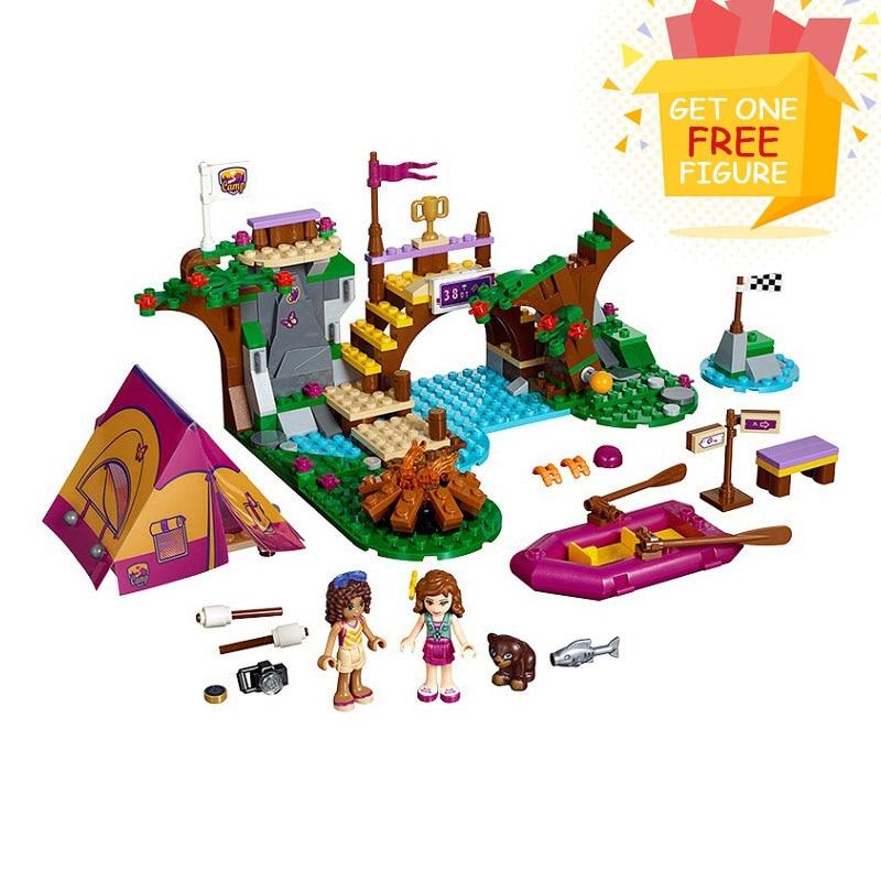 Bela Pogo Compatible Legoe Friends 325pcs Adventure Camp Rafting Camping Olivia Andrea Girls Building Blocks Bricks toys for