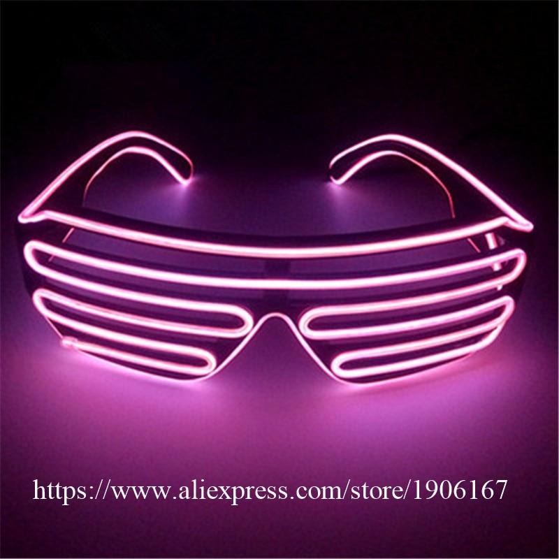 Fashion El Wire Party Sunglasses Colorful LED Lighting Shutter Glasses Flashing Led Luminous Stage Glasses