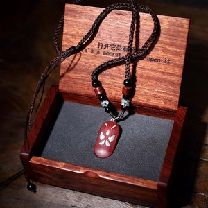 Image 1 - Romântico aniversário dia dos namorados feminino presente ilusionista medalhão borboleta coração pingente 990 sliver colares pode imprimir fotos