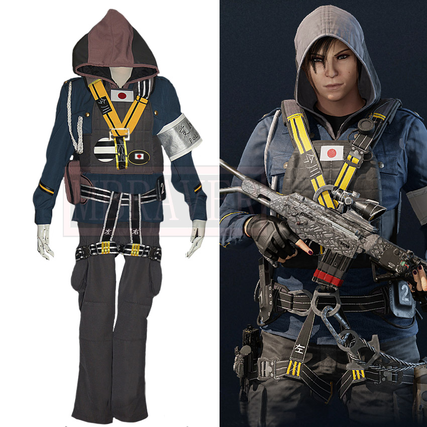 Tom Clancy's Rainbow Six Siege Yumiko Imagawa Hibana Cosplay Costume Halloween Christmas Uniform Custom Made Any Size
