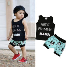 Toddler Kids Baby Boy Cartoon Clothes T shirt Tops Shorts Pants 2PCS Outfits Sets 0-24M стоимость