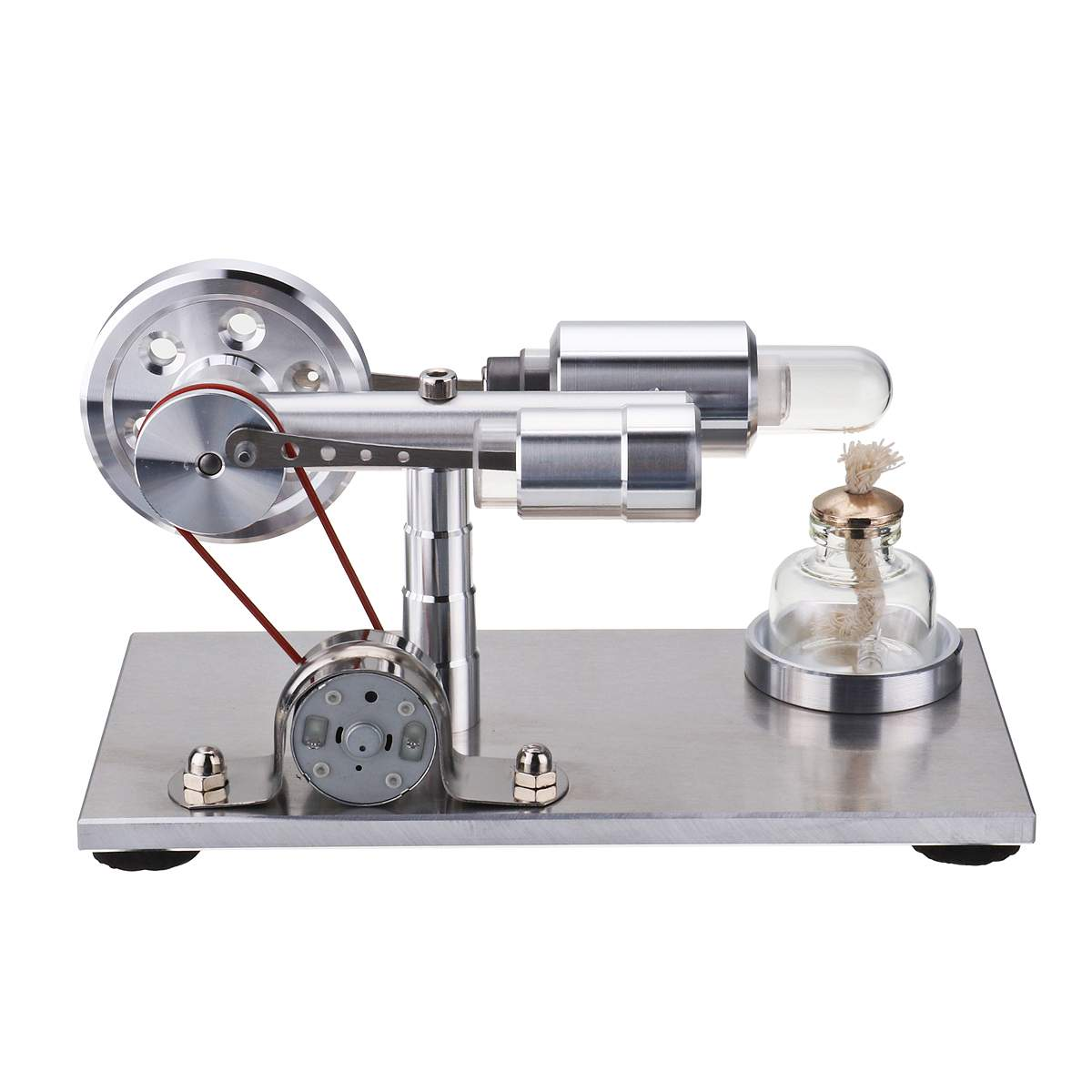 Hot Air Stirling Engine Model Generator STEAM DIY Physics Science Experiment Kit