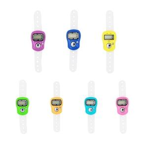 1 шт. Портативный электронный цифровой счетчик мини ЖК ручной палец кольцо Tally счетчик стежка маркер пластиковый Ряд Счетчик 40% скидка