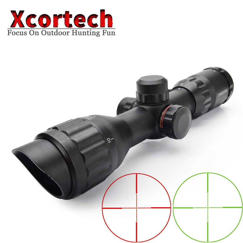 Tactical 3-9X32 AOL Compact Hunting Optics Riflescopes Mil dot Illuminated Reticle Angled Integral Sunshade Rifle Scope leapers utg 3 9x32 aolmq compact mil dot reticle hunting optics riflescopes locking w sun shade