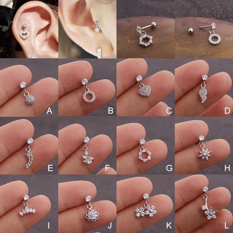 Helix Piercing Jewelry Cz Dangle Cartilage Tragus Earring Shop