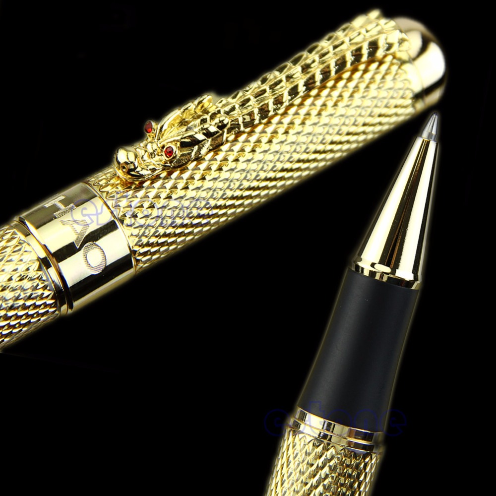 Better Noblest Jinhao 1200 Dragon clip Roller Ball Pen Complete Golden roller ball pen jinhao 189 noblest ancient silver medium 0 7mm nib great wall pen