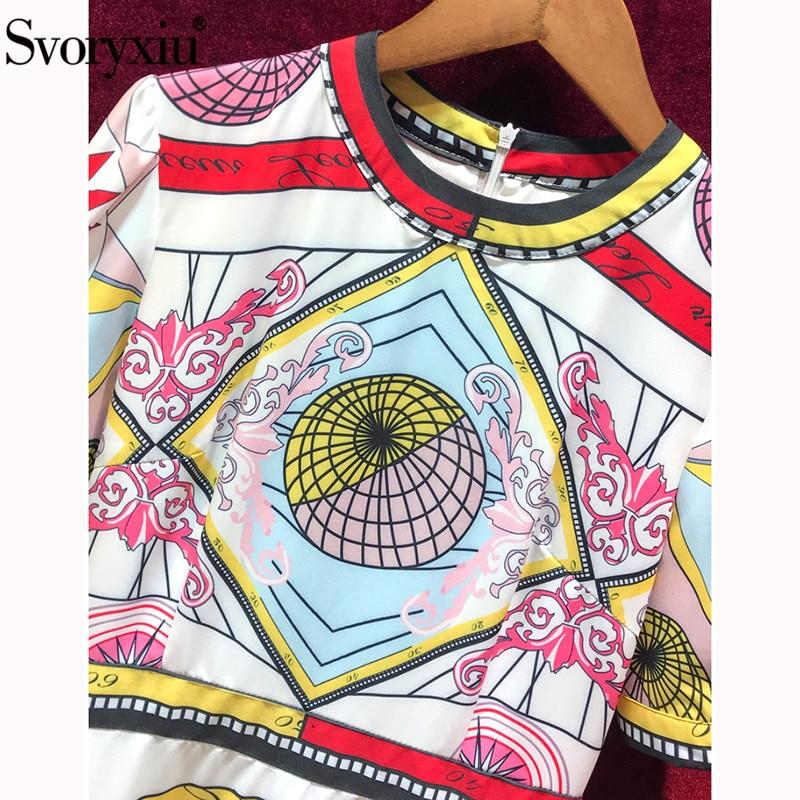 Svoryxiu Vintage de fiesta de verano de las mujeres Maxi vestido manga corta de alta calidad impresión Slim elegante-in Vestidos from Ropa de mujer    3