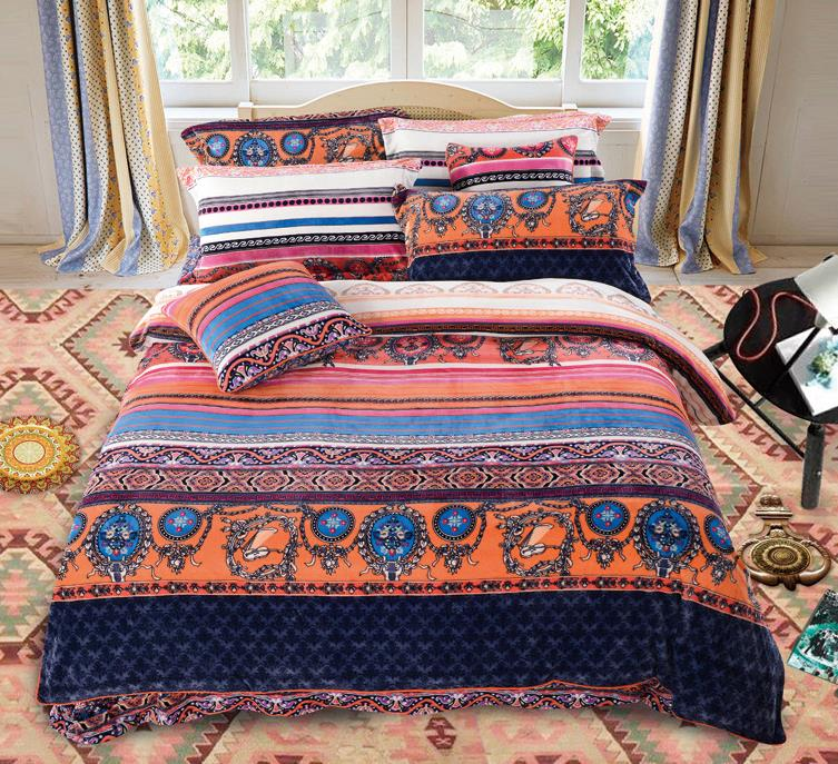 Aliexpress.com : Buy Winter Girls bohemian duvet covers King queen bed set  plush Bedding Sets chinese home textile Queen