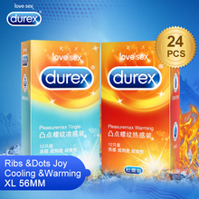 Durex Condoms Warming and Tingle Super Ultra Thin XL 56MM Condom Sex Toys Intimate Sex Products Safe Penis Sleeves for Men Sex