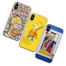 The Simpsons Cartoons Transparent TPU Soft Rubber Phone Case For iPhone 5 SE 6 6s 7 8 X 55S SE 6plus 7plus 8plus XR XS max Coque goowiiz кванхон iphone 55s